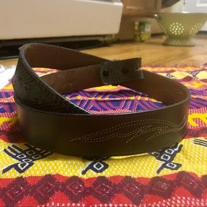 Other - Beautiful Grey Leather and Snakeskin Belt!